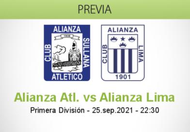 Pronóstico Alianza Atl. vs Alianza Lima