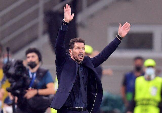 El técnico del Atlético de Madrid Diego Simeone el 28 de septiembre de 2021