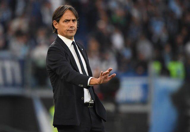 El técnico del Inter Simone Inzaghi el 16 de octubre de 2021