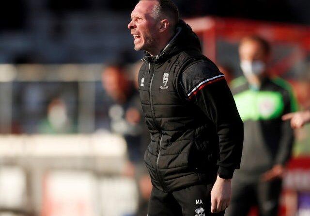 El entrenador de Lincoln, Michael Appleton, el 19 de mayo de 2021